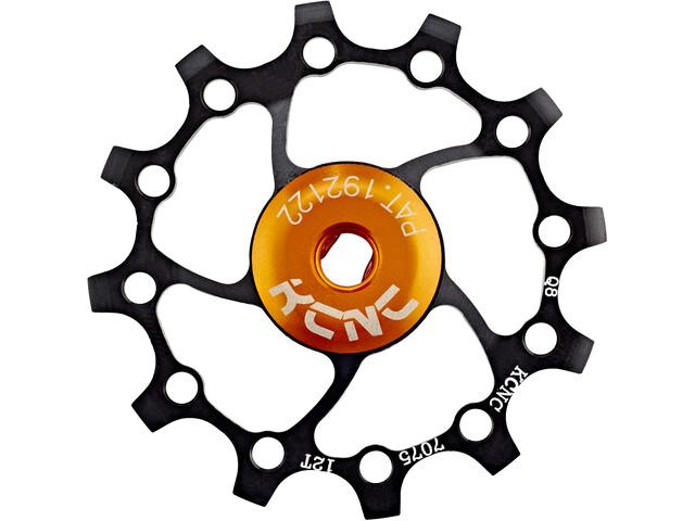 KCNC Original Jockey Wheel SS Bearing Long Teeth 12T, zwart
